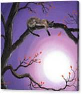 Catch A Falling Leaf Canvas Print
