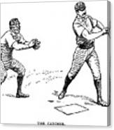 Catcher & Batter, 1889 Canvas Print
