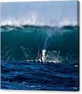 Catching A Big Wave, North Shore, Oahu Canvas Print