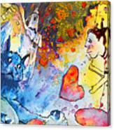 Catching Love Canvas Print