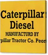 Caterpillar D2 Bulldozer 08 Canvas Print