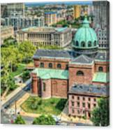Cathedral Basilica Of Saints Peter And Paul Philadelphia  Canvas Print