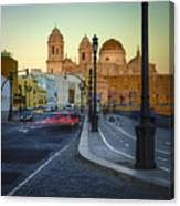 Cathedral From Campo Del Sur Cadiz Spain Canvas Print