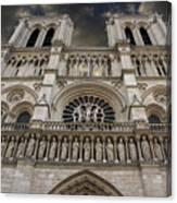 Cathedral Notre Dame Of Paris. France   Canvas Print