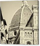 Cathedral Of Brunelleschi In Florence Canvas Print