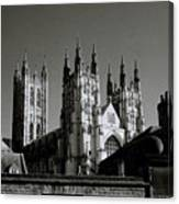 Cathedral Of Canterbury Canvas Print