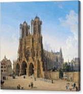 Cathedral Of Notre-dame At Reims Canvas Print