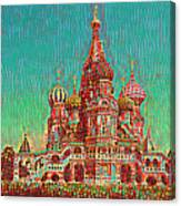 Cathedral Of St. Basil, Moscow Russia Canvas Print