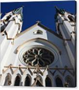 Cathedral Of St John The Babtist In Savannah Canvas Print