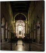 Cathedral Of Syracuse - Duomo Di Siracusa - An Ancient 2500 Years Old Greek Temple Canvas Print