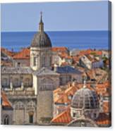 Cathedral Of The Assumption Of The Virgin In Dubrovnik Canvas Print
