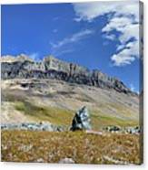 Cathedral Peak Over Waterton Valley Trail - Glacier National Park Canvas Print