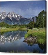 Grand Teton Cathedral Reflections Canvas Print