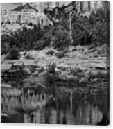 Cathedral Rock Black And White Number Seven Canvas Print