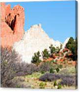 Cathedral Rock In Garden Of The Gods Park Canvas Print