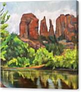 Cathedral Rocks In Crescent Moon Park Canvas Print