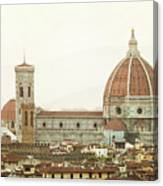 Cathedral Santa Maria Del Fiore At Sunset, Florence. Canvas Print