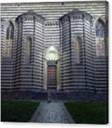Cathedral Side Door Orvieto Italy Canvas Print