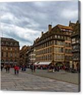 Cathedrale Notre-dame Or Our Lady Place, Strasbourg, France Canvas Print