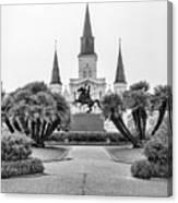 Catholic Basilica Jackson Sq Andrew Jackson New Orleans  Canvas Print