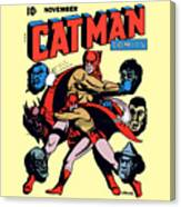 Catman And Kitten Square Format Canvas Print