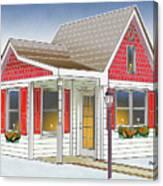 Catonsville Santa House Canvas Print