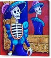 Catrina In The Mirror Canvas Print