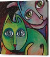 Cats I  2000 Canvas Print
