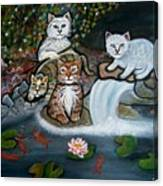 Cats In The Wild Canvas Print