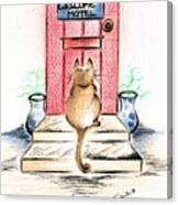 Cat's Welcome Motel Canvas Print