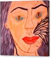 Catt Women Canvas Print
