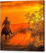 Cattle Drive 45 Canvas Print