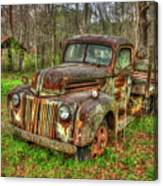 Caught Behind 1947 Ford Stakebed Pickup Truck Art Canvas Print
