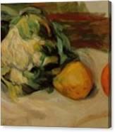 Cauliflower And Pomegranates Canvas Print