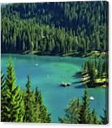 Caumasee Lake Switzerland Canvas Print