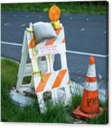 Caution, Road Work Canvas Print