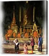 Cave Of The Bat Temple 1 Canvas Print
