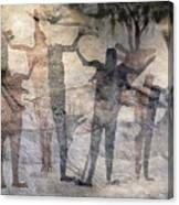 Cave Painting Of Prehistoric Man Canvas Print