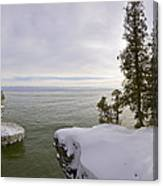 Cave Point Panorama Canvas Print