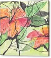 Cayenas Atrapadas  Hibiscus Canvas Print