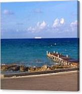 Cayman Dock Canvas Print