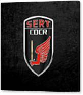 C.d.c.r Special Emergency Response Team - S.e.r.t. Patch Over Black Canvas Print