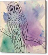 Cecil The Sad Owl Canvas Print