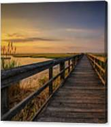 Cedar Beach Pier, Long Island New York Canvas Print