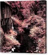 Cedar Creek Grist Mill Soft Burgundy Canvas Print