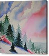 Cedar Fork Snow Canvas Print
