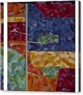 Cedar Grove Arial Map Canvas Print