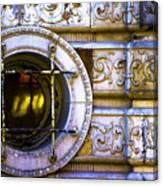 Cedar Hotel Round Window V3 Canvas Print