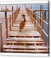 Cedar Key Wharf Canvas Print