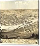 Cedar Rapids Iowa 1868 Canvas Print